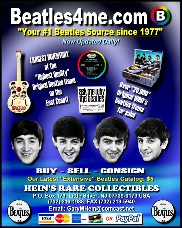 Rare Beatle Records available on our website.  Click here to view!